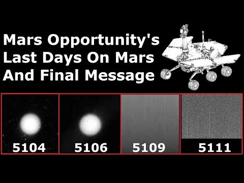 The Truth Behind Opportunity's Last Message and It's Final Days On Mars